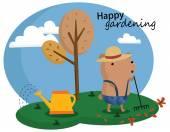 Happy Gardening — Stock Vector