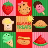 Delicias de verano — Vector de stock