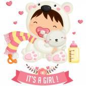 Baby Polar Bear — Stock Vector
