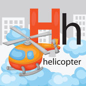H for Helicopter — Stock Vector