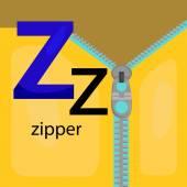 Z for Zipper — Stock Vector