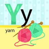 Y for Yarn — Stock Vector
