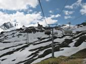 Summer mountain landscape on the Kitzsteinhorn Glacier, Austria — Stock Photo