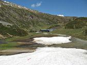Sommer berglandschaft auf dem kitzsteinhorn-gletscher, österreich — Stockfoto