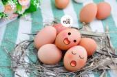 Eggs in Expression Face — Stock Photo