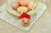 Santa Claus Egg — Stock Photo