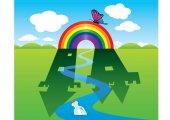 Rainbow — Stock Vector