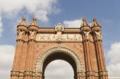 Triumphal Arch, archway structure in Barcelona, Spain — Stock Photo