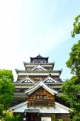 Hiroshima Castle in Hiroshima, Japan dating from 1590 — Stock Photo