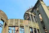 Atomic Dome in Hiroshima, memorial to the first city to suffer a nuclear attack — Stock Photo