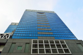 大阪市の高層ビルを見る, 日本 — ストック写真