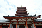 Asakusa area, where the old temple is located, Tokyo, Japan — Stock Photo
