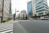 The streets of Asakusa area Tokyo, Japan — Foto de Stock