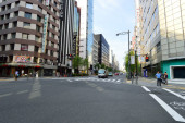 Streets of the Ginza area Tokyo, Japan — Stock Photo