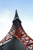 O vermelho torre de tóquio, japão — Fotografia Stock