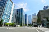 Zobacz wysokich budynków w yokohama, japonia — Zdjęcie stockowe