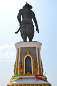 Statue of the King Chao Anouvong in Vientiane, Laos — ストック写真