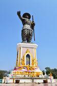 Estatua del rey anouvong chao en vientiane, laos — Foto de Stock