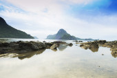 View of a tropical beach in El Nido, Palawan, Philippines — Stock Photo