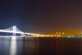 韓国釜山市ダイヤモンド橋の夜 — ストック写真