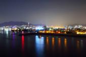 Skyline of Suyeong distric at night, Busan, South Korea  — Stock Photo
