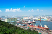 Incheon panoramic view over the city, South Korea — Stock Photo