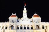 People Committee building de Saigon at night — Stock Photo