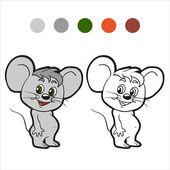 Coloring book (mouse) — Stock Vector