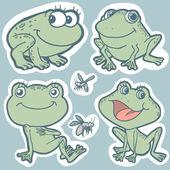 Set of vector elements (frogs) — Stock Vector