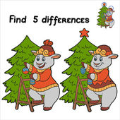 Find 5 differences (sheep) — Stock Vector