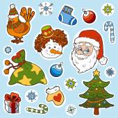 Set of christmas vector elements — Stock Vector