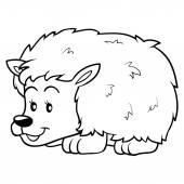 Coloring book (hedgehog) — Stock Vector