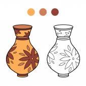 Coloring book (vase) — Stock Vector