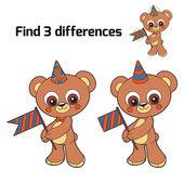 找到 3 差异 (熊) — 图库矢量图片