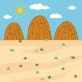 Vektor illustration (soliga safari dag) — Stockvektor
