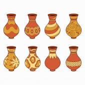 Set of vector elements (vases) — Vector de stock