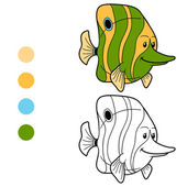 Livre de coloriage (poisson) — Vecteur
