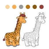 Coloring bokk (giraffe) — Stock Vector