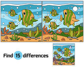Find differences (fish) — Stock Vector