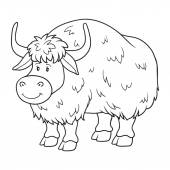 Coloring book (yak) — Stock Vector