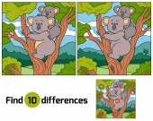 Find differences (koala) — Stock Vector