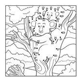 Numbers game (koala) — Stock Vector