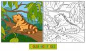 Livre de coloriage (iguane) — Vecteur