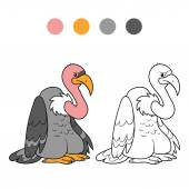 Coloring book (vulture) — Stock Vector