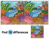Find differences (x-ray fish) — Stock Vector