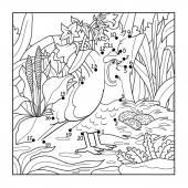 Gra liczb (przepiórka, ptak) — Wektor stockowy