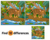 Find differences (jaguar and background) — Stock Vector