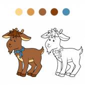 Coloring book (goat) — Stock Vector