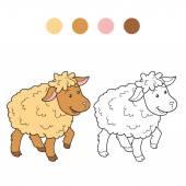 Coloring book (sheep) — Stock Vector