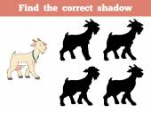 Find the correct shadow (goat) — Stock Vector